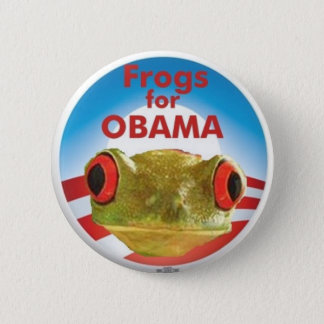 Frogs for Obama 6 Cm Round Badge