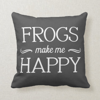 Frogs Happy Pillow - Assorted Styles & Colors Throw Cushions