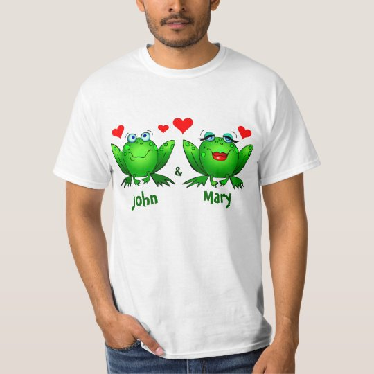 Frogs in Love Lovers Names T-Shirt