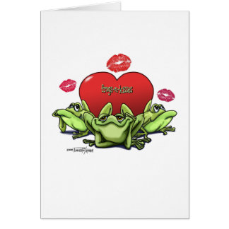 Frogs & Kisses - Valentine Greeting Card