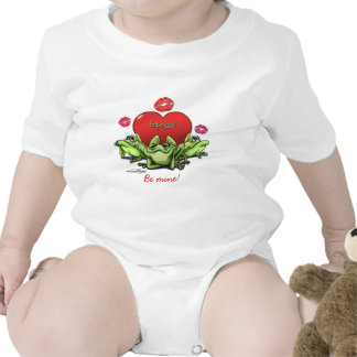 Frogs & Kisses - Valentine Rompers