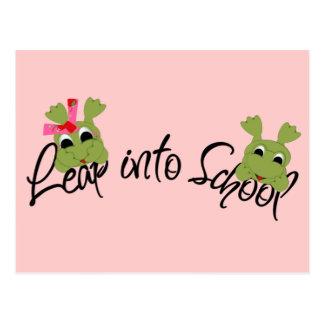 Frogs Leap Into School Postcard