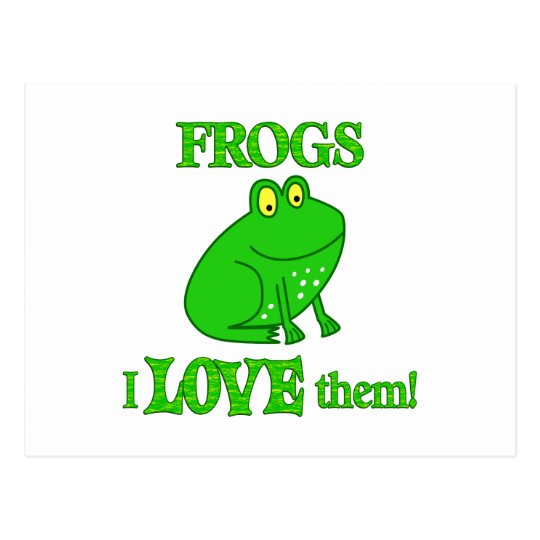 Frogs Love Them Postcard