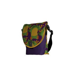 Frogs on Purple Messenger Bag
