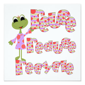 Frogs Reduce Reuse Recycle Tshirts and Gifts 13 Cm X 13 Cm Square Invitation Card