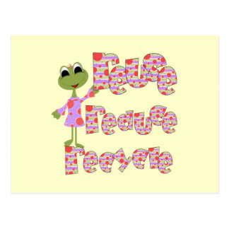 Frogs Reuse Reduce Recycle T-shirts and Gifts Postcard