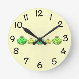 Frogs! Round Clock
