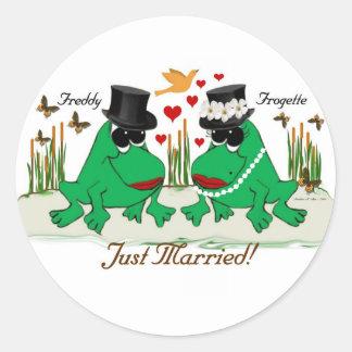 Frogs Round Sticker