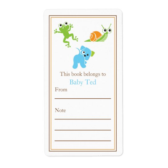 Frogs, Sails and Puppy Dog Tails | Bookplate Shipping Label