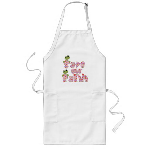Frogs Save Our Earth Apron
