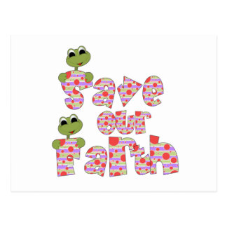 Frogs Save Our Earth Post Card
