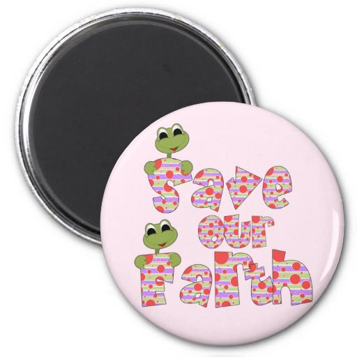 Frogs Save Our Earth T-shirts and Gifts Refrigerator Magnet