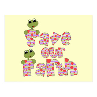 Frogs Save Our Earth T-shirts and Gifts Post Cards