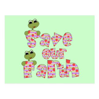 Frogs Save Our Earth T-shirts and Gifts Postcard