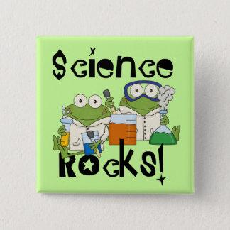 Frogs Science Rocks 15 Cm Square Badge