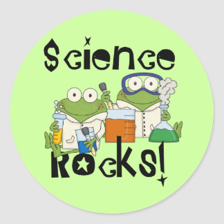 Frogs Science Rocks Classic Round Sticker