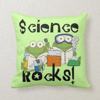 Frogs Science Rocks Cushion