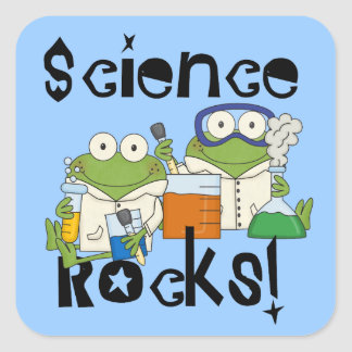 Frogs Science Rocks Square Sticker