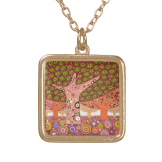 Frogspawn trees 2010 gold plated necklace