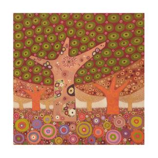 Frogspawn trees 2010 wood print