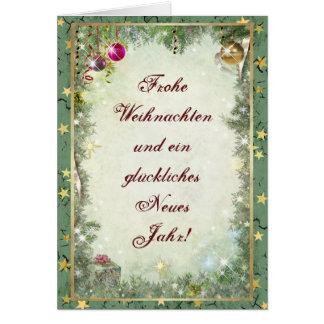 Frohe Weihnachten Greeting Card