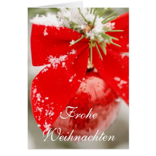 Frohe Weihnachten Christmas Card