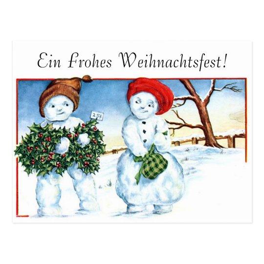 Frohe Weihnachten - Merry Christmas Postcard