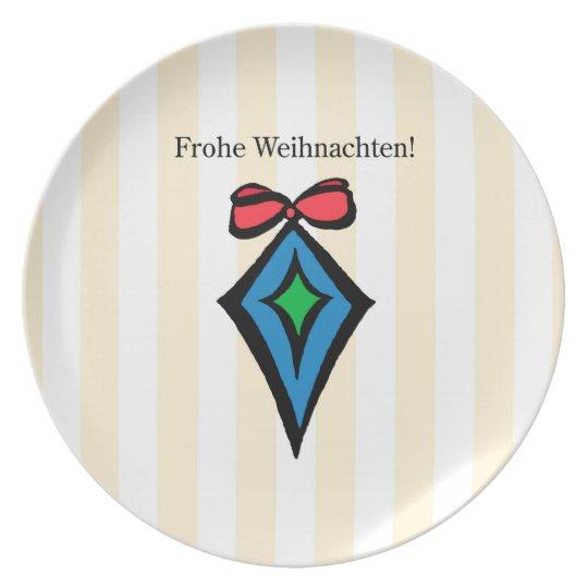 Frohe Weihnachten Ornament Melamine Plate YL