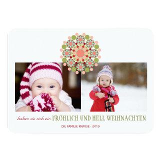 Fröhliche und helle Weihnachtsgrüße Einladungen 11 Cm X 16 Cm Invitation Card