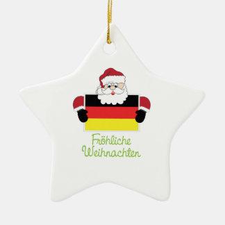 Frohliche Weihnachten Christmas Ornament