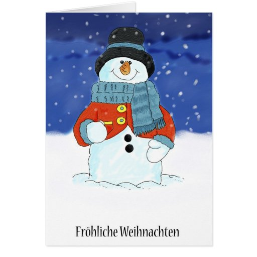 frohliche weihnachten german snowman christmas c zazzle. Black Bedroom Furniture Sets. Home Design Ideas