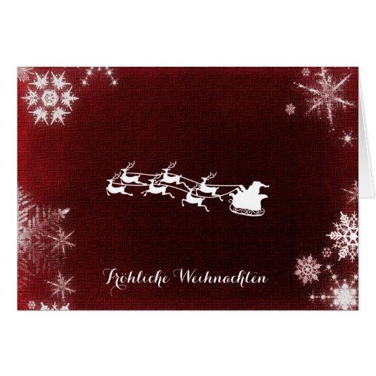 Fröhliche Weihnachten Merry Christmas Card