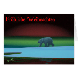 Frohliche Weihnachten - Polar Lights Polar Bear Card