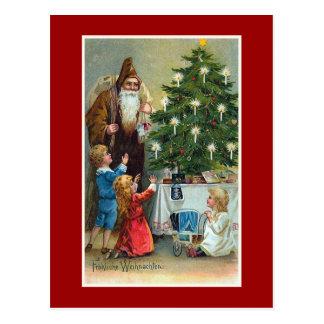 Frohliche Weihnachten Vintage Christmas Postcard