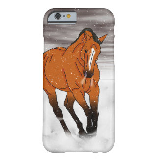 Frolicking Buckskin Horse in Snow Barely There iPhone 6 Case