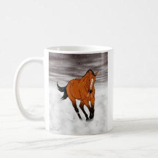 Frolicking Buckskin Horse in Snow Coffee Mug