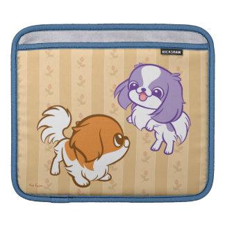 Frolicking Kawaii Puppies Japanese Chin iPad Sleeves