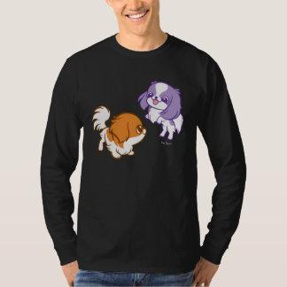 Frolicking Kawaii Puppies Japanese Chin Tee Shirt