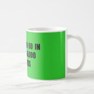 From  0 to 60 in seconds basic white mug