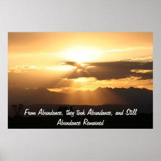 From Abundance, they took Abundance... Poster