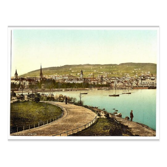 From Alpenquay, with Alpenquay and Zurichberg, Zur Postcard