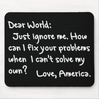 From America with Love Light Text Mouse Pads