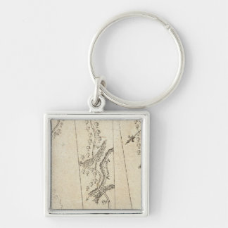 From Annapolis to Hanover & Newcastle 73 Silver-Colored Square Key Ring
