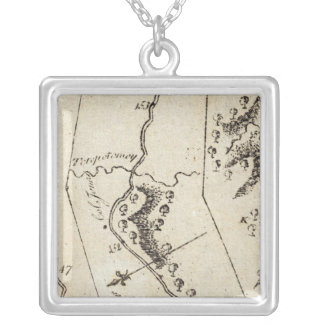 From Annapolis to New Kent Courthouse 74 Square Pendant Necklace