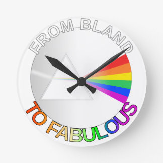 From Bland to Fabulous Round Clock
