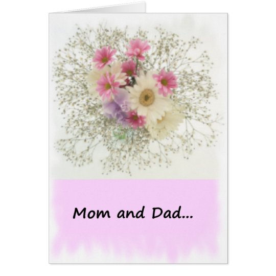 From Bride to Mum and Dad Card