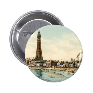 From Central Pier, Blackpool, England 6 Cm Round Badge