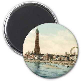 From Central Pier, Blackpool, England 6 Cm Round Magnet