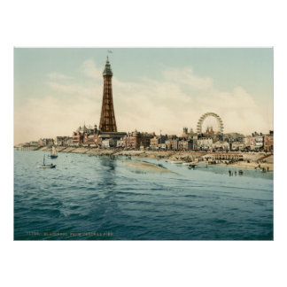 From Central Pier, Blackpool, England Poster