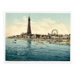 From Central Pier, Blackpool, England vintage Phot